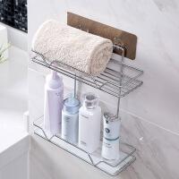 双层不锈钢浴室置物架洗澡间壁挂洗漱架卫生间免打孔收纳架浴室架