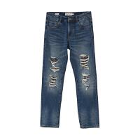 【2件2.5到手价:64】美特斯邦威修身牛仔裤男新款潮流个性纯棉长裤秋季上新