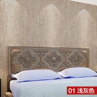 亚麻无缝墙布工程客厅卧室墙纸装修壁纸家装素壁布
