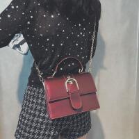 夏天小包包女2018新款潮韩版漆皮亮面手提小方包百搭斜挎包链条包