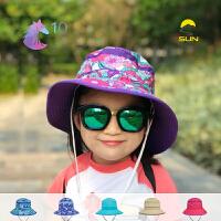 SundayAfternoons夏天儿童防晒帽防紫外线帽子小清新渔夫帽速干