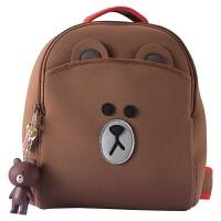 书包幼儿园大班小孩男宝宝女3-5-6岁布朗熊双肩背包男童女童