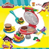 孩之宝培乐多彩泥手工DIY玩具美味汉堡套装粘土无毒橡皮泥儿童