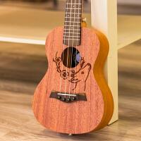 原创桃花心手工尤克里里初学者23寸乌克丽丽小吉他乐器a178