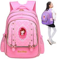 儿童书包女1-3-6年级小学生书包女孩皮韩版公主背包女童双肩包4