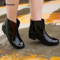新款时尚短筒雨鞋四季穿雨靴耐磨防滑防水水鞋女士水靴雨鞋女