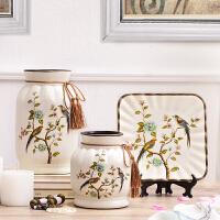 欧式家居饰品摆件客厅酒柜装饰品陶瓷室内摆设三件套工艺品