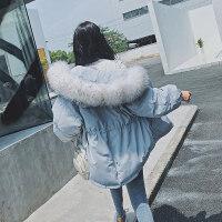 棉衣2018新款女冬季韩版ins工装时尚短款毛领棉袄加厚面包服