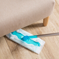 伸缩式旋转平板拖把夹固式地拖家用免手洗静电除尘纸地板拖布拖把