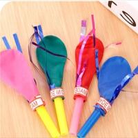 哨子气球金丝口哨气球 儿童礼物有声玩具吹气球 宝宝生日派对用品 气球一包50个