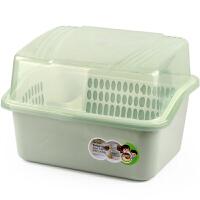 厨房塑料碗柜沥水碗架带盖碗筷餐具收纳盒放碗碟架滴水碗盘置物架抖音同款