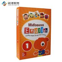 Midisaurus English 1 学生包 麦格劳希尔出版社进口米迪英语1级别幼儿启蒙英语教材培训班教材 买10