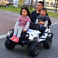 儿童电动车四轮越野汽车双人座超大号遥控玩具车可坐人电瓶车四驱