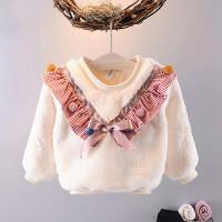 2018新款保暖上衣女童卫衣加绒加厚冬季儿童外套女宝宝休闲衣服潮