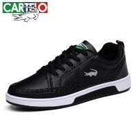 卡帝乐鳄鱼CARTELO休闲鞋男士系带耐磨小白鞋时尚韩版户外透气运动板鞋 KDL810