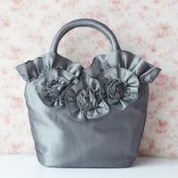 蕾丝绣花刺绣女包手提手拎买菜小布包云南民族风花朵手工布艺包包