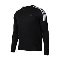 Adidas阿迪达斯 男装2018新款RUN 3S LS M运动休闲套头衫卫衣 CZ8097