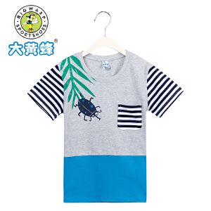 大黄蜂童装 男童夏装2017新款 男童短袖休闲T恤
