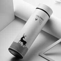 保温杯男士便携商务水杯子大容量水瓶女学生不锈钢保温茶杯