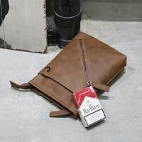 韩版疯马皮男包男女运动包单肩包斜挎包腰包手机包小包包挂包