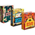 Cut-out Book 镂空设计 英文原版创意数字恐龙城市字母书 Cityblock Dinoblock Alpha
