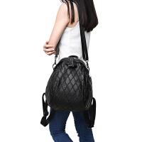 女士包包2018牛皮双肩包女时尚2017新款潮韩版百搭真皮背包女软皮SN9734