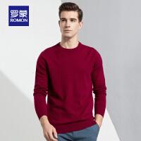 【2折到手价:128】男士羊毛衫冬季新款纯羊毛套头圆领毛衣男休闲保暖打底针织衫