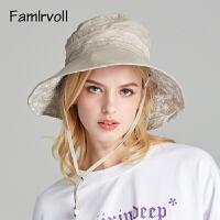 遮阳帽女户外夏季登山骑车可折叠太阳帽