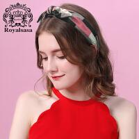 皇家莎莎发箍宽边头饰甜美淑女发卡布艺头箍发带简约发夹森女网红