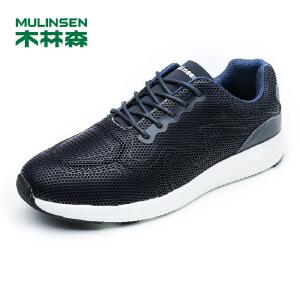木林森男鞋 头层牛皮舒适轻质套脚运动鞋  05177620