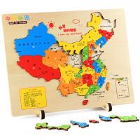 儿童玩具3-6-8岁宝宝中国世界地图拼图木质初中学生 中国地图
