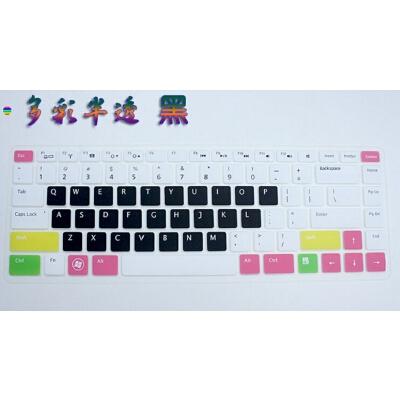 戴尔Inspiron 5525键盘膜15.6寸笔记本键盘电脑贴膜 凹凸防尘膜垫 多彩半透 黑 不清楚型号的可以问客服拍下备注型号