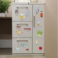厨房橱柜餐厅装饰品墙纸贴画防水冰箱贴纸个性创意卡通可移除墙贴