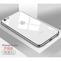 苹果7plus手机壳iPhone6s硬壳8p磨砂黑色6p套超薄7潮牌男全包防摔 苹果6/6s plus 亮面白 5.5