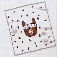 羊驼婴儿针织毯子纯棉新生儿宝宝空调毯幼儿园毛巾毯推车毯子