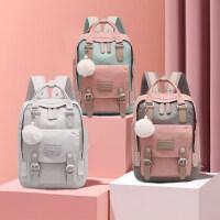 2020新款女�n版高中小�W生��包初中生大容量��X包旅行背包�p肩包