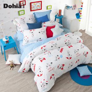 多喜爱家纺新品全棉卡通三/四件套儿童床上用品套件酷皮