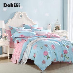 多喜爱全棉印花套件田园风床上用品清新色调四件套木子花开