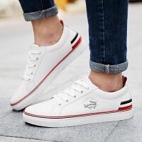 卡帝乐鳄鱼男鞋白色板鞋男夏季透气白鞋休闲鞋子运动韩版潮小白鞋