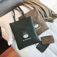 女包2018春夏新款大包包韩版百搭软皮pu手提包袋校园大容量托特包