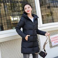 羽绒冬季棉袄加厚外套棉衣女中长款韩版修身学生反季