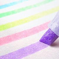 日本进口zebra斑马WKS18荧光色笔星空记号笔彩色粗划重点荧光标记笔学生用手账笔儿童闪光笔