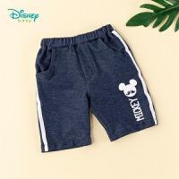 【99元3件】迪士尼Disney童装儿童裤子宝宝夏装2020新款男童短裤洋气仿牛仔潮裤帅气