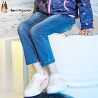 【3件3折:110.7元】暇步士童装时尚印花牛仔裤女童长裤儿童裤子