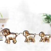 大象摆件三只小象三口之家欧式创意家居装饰品客厅电视柜摆设