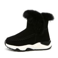 儿童雪地靴鞋子男童冬鞋2018冬季新款女短靴子保暖加绒加厚