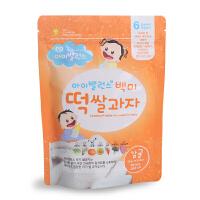 韩国婴鑫大米柑橘味米饼进口食品婴幼儿童零食宝宝磨牙饼干非油炸