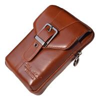 男士时尚穿皮带手机腰包新款时尚5.5/5.7/6/6.3寸手机包挂包竖款 小号棕色3223 颜色比图片偏浅