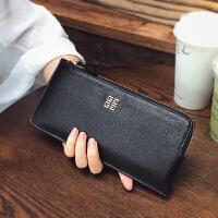 新款钱包女长款薄日韩欧美韩版潮个性小清新真皮拉链手拿皮夹