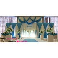 婚庆道具用品批发豪华布幔舞台背景纱幔新款结婚婚礼布置